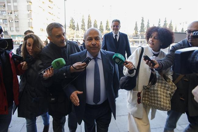 Torres Hurtado a su llegada a La Caleta para el juicio del Serrallo.