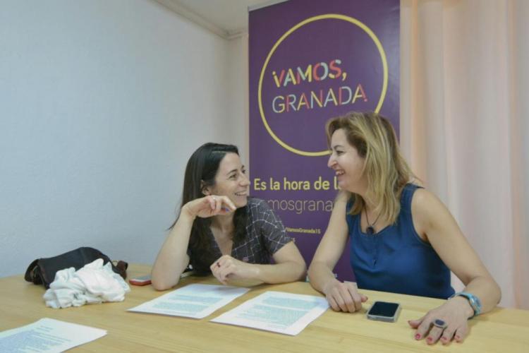 La candidata de Vamos Granada, Marta Gutiérrez.