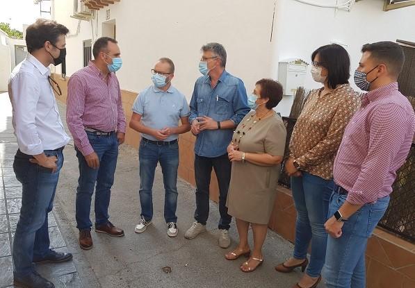 Francisco Rodríguez en su visita a las comarcas de Baza y Huéscar.