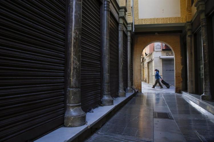 Imagen del Zacatín durante los cierres.