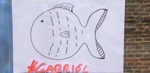 Dibujo de un 'pescaito', que se popularizaron en la búsqueda de Gabriel.