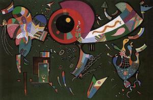 'Around the Circle' (1940), Wassily Kandinsky.
