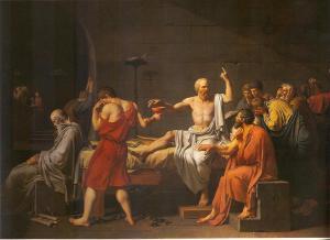 'A la muerte de Sócrates', de J. L. David (1787).