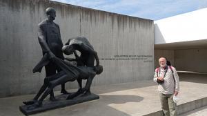 Monumento a las víctimas del nazismo en el campo de concentración de Sachsenhausen.
