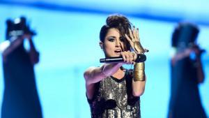 Barei, durante su actuación en Eurovisión con la canción 'Say yay!'