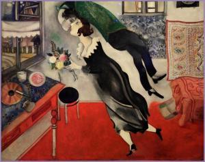 'L´anniversaire'  (1915) de Marc Chagall.
