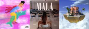Portada de los tres discos de Mala Rodríguez, Bejo y Dellafuente.