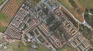 Vista aérea del Cementerio de San José.