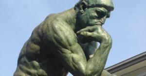 'El pensador', de  Auguste Rodin.