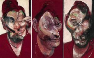 'Three Studies For Portrait of Lucian Freud' (1964), de Francis Bacon.