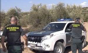 Guardias civiles en el operativo de búsqueda de la pantera.