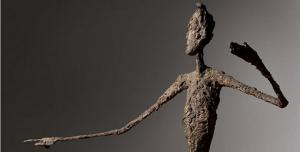 """L'homme au doigt"""" (1947), de Alberto Giacometti."""