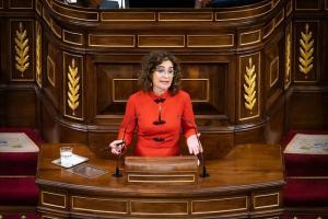 La ministra de Hacienda, María Jesús Montero, defiende ante el Pleno el Proyecto de Ley de Presupuestos Generales del Estado para el año 2021.