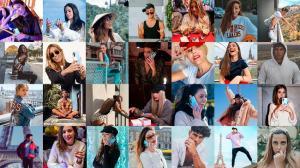 Influencers elegidos por Hawai para presentar su nuevo modelo de smartphone.