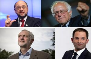 Schultz, Sanders, Corbin y Hamon.