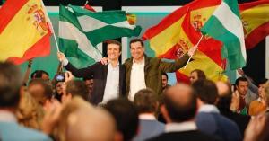 Moreno y Casado, en un mitin.