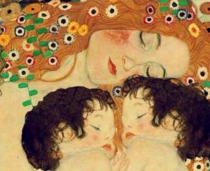'Madre e hijos' (1905) Gustav Klimt.