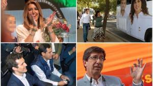 Líderes de los cuatro principales partidos políticos que concurren en Andalucía.