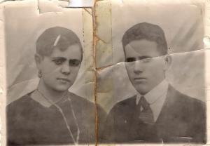 Jacinto Pérez Herrera y su esposa, María Teresa.