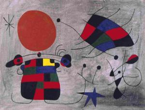 'La Sonrisa de Alas Flameantes', de Miró.