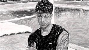 Naim Darrechi, en una imagen de Instagram, retocada.