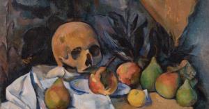 'Naturaleza muerta con cráneo' (1898), de Paul Cezanne