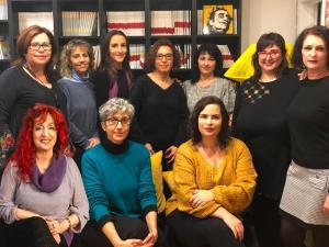 Las autoras de 'Nietas de la Memoria'.
