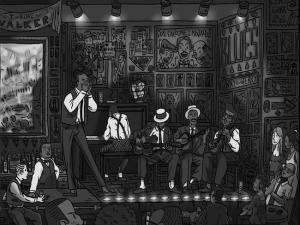 Noche de blues en un local estadounidense hacia 1920.