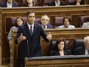 Pedro Sánchez, en la sesión de control al Gobierno del pasado miércoles.