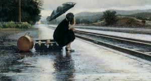 'Penélope esperaba en el andén al primer tren que pasara, sin saber, la pobre, que estaba en Granada'
