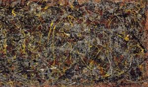 Reproducción de 'Number 5', de Jackson Pollock.