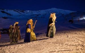 Los Reyes Magos, en Sierra Nevada.