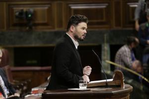 Gabriel Rufián, en una imagen de archivo, en la tribuna del Congreso.