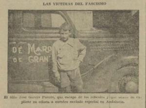 José García Puente, en la fotografía de la entrevista publicada por Solidaridad Obrera en septiembre de 1936.