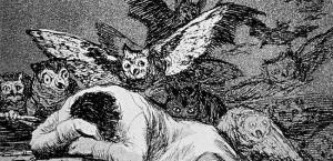 'El sueño de la razón produce monstruos' (1799), grabado número 43 de la serie 'Los Caprichos', de Francisco de Goya.
