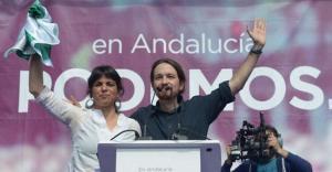 Teresa Rodríguez y Pablo Iglesias, en una imagen de archivo.