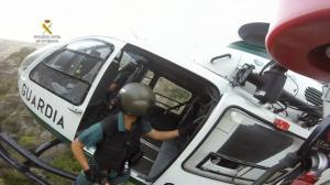 Imagen de uno de los rescates efectuados.