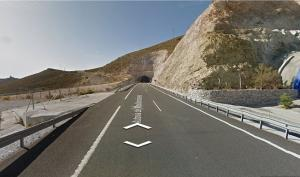 Lugar donde ha ocurrido el accidente del motorista.