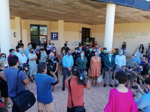 La delegada del Gobierno ha participado en el minuto de silencio en La Línea.