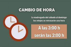 Los relojes se retrasarán una hora.