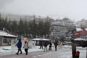 Nieve sobre Pradollano ese viernes.