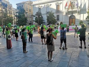 Imagen de una concentración en julio pasado contra la subida de las cuotas.