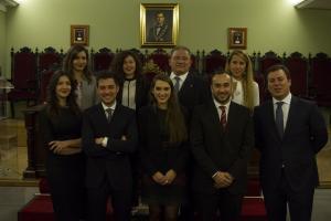La nueva Junta Directiva del Grupo de Abogados Jóvenes.