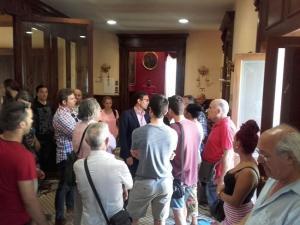 Encuentro del colectivo con el alcalde de Granada.
