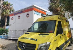 Ambulancia del operativo de seguridad de playas.
