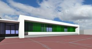 Fotomontaje del nuevo aulario del instituto.