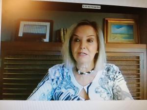 Ana Tárrago, durante su comparecencia por videoconferencia.