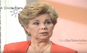 Ana Orantes en el programa de televisión en el que detalló el calvario de los malos tratos sufridos.
