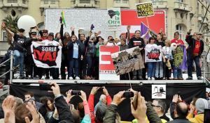 Manifestación de hace un año por la España vaciada.