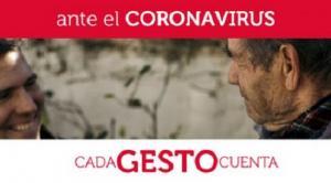 Cartel de la campaña de donaciones de Cáritas.